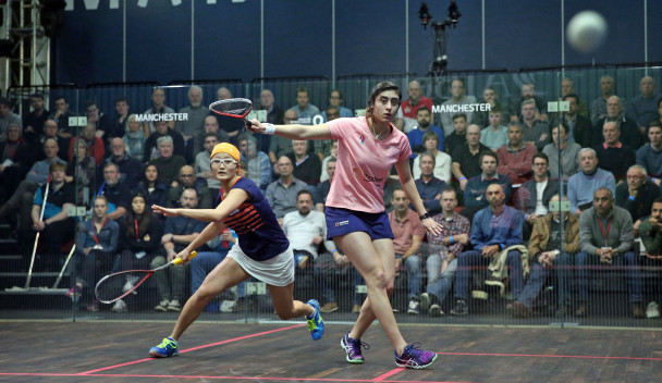 Top seeds Gaultier and El Sherbini win at AJ Bell PSA Men's and Women's Squash World Championships