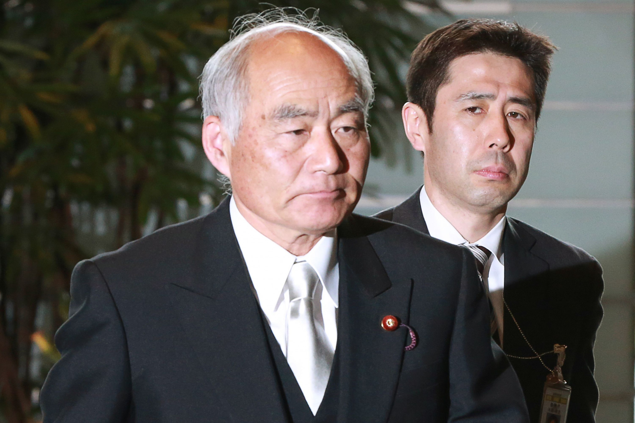Masayoshi Yoshino, Reconstruction Agency Minister, thanked IOC officials for their support ©Getty Images
