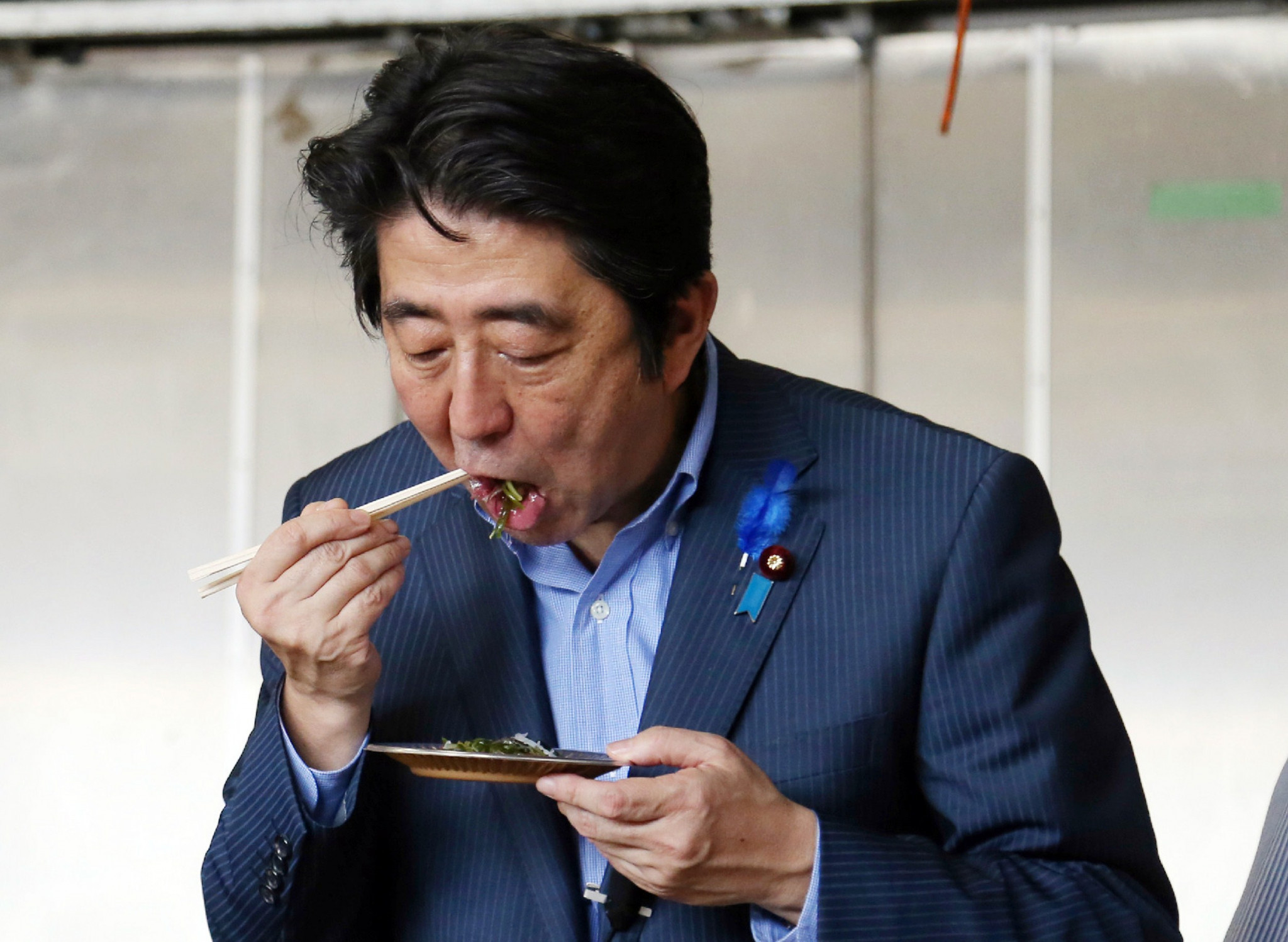 Japanese Prime Minister Shinzo Abe recently called from countries to lift restrictions on food from the three affected prefectures ©Getty Images