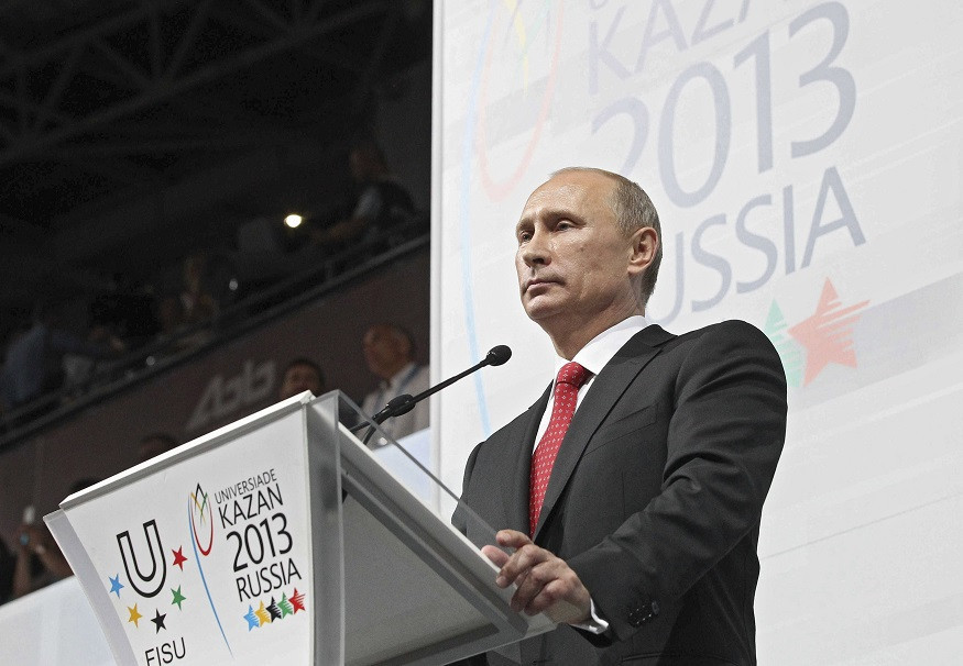 The 2013 Universiade in Kazan was opened by Russian President Vladimir Putin ©Getty Images
