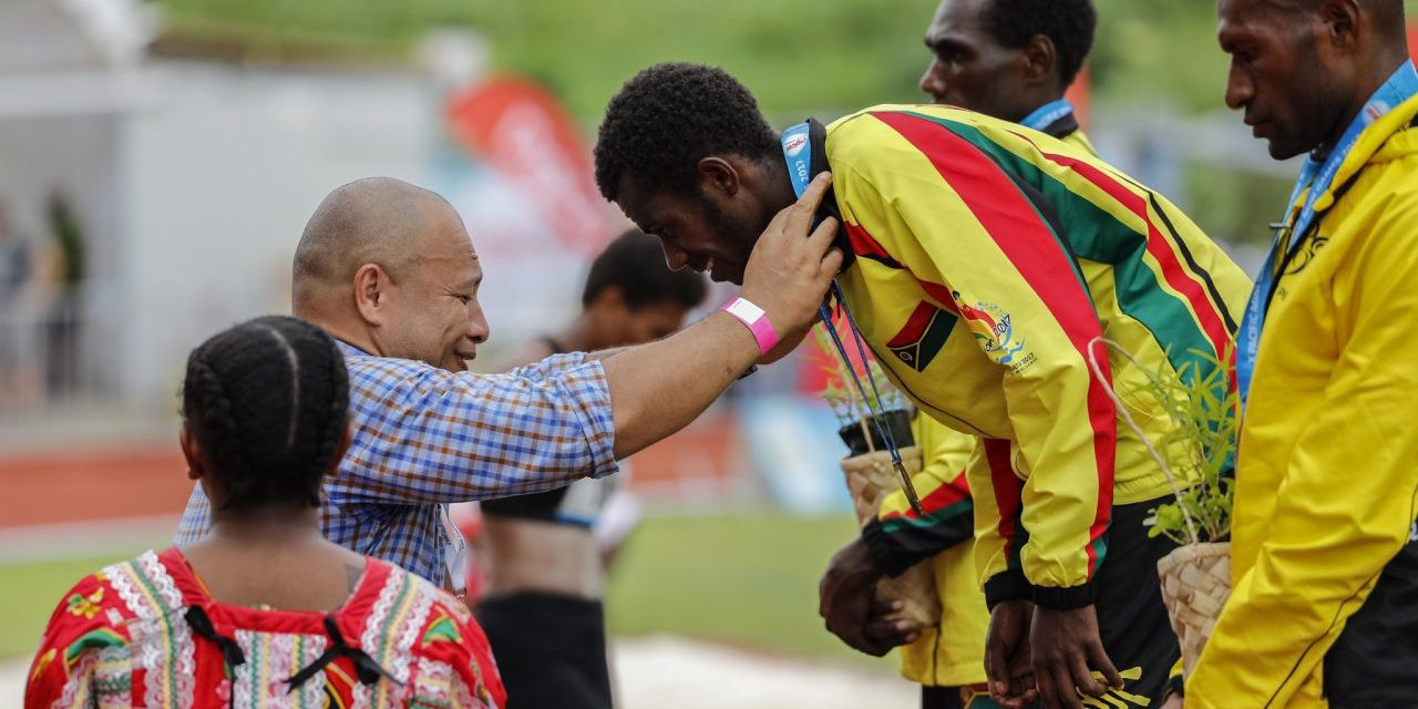 Simon Charley continued his superb long distance running form at the Pacific Mini Games ©Vanuatu 2017