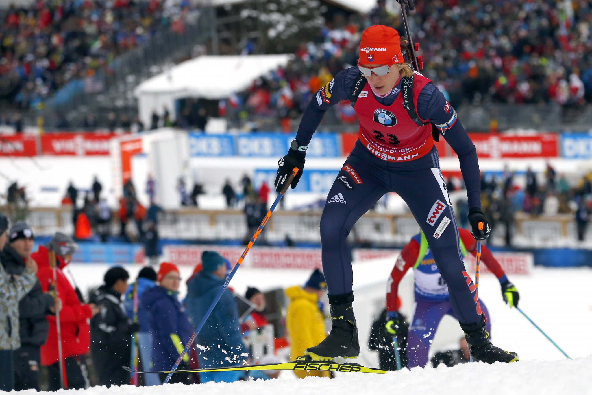 Anastasiya Kuzmina enjoyed a comfortable margin of victory ©Getty Images
