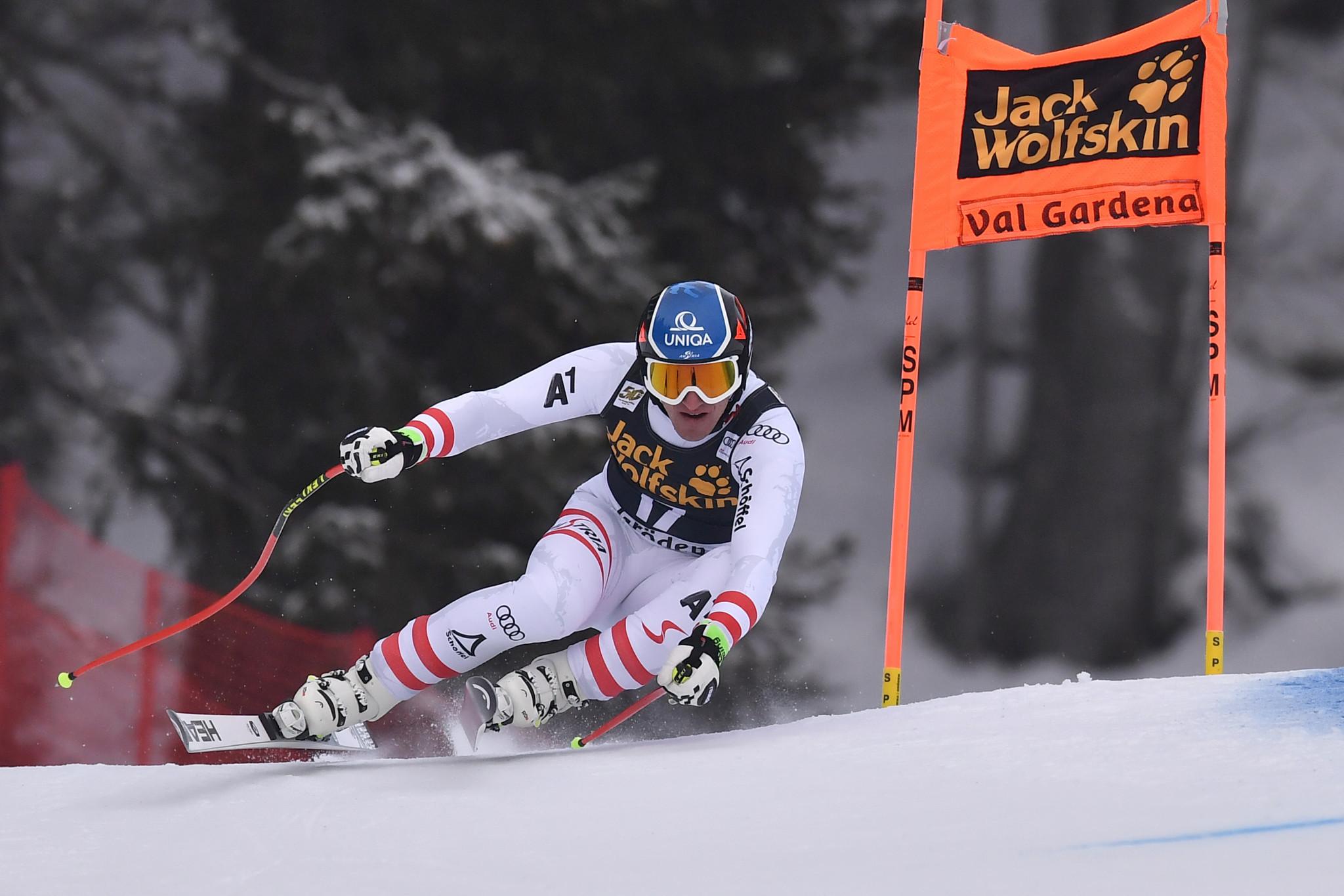 Austrian Mayer quickest in training before FIS Alpine Ski World Cup in Val Gardena