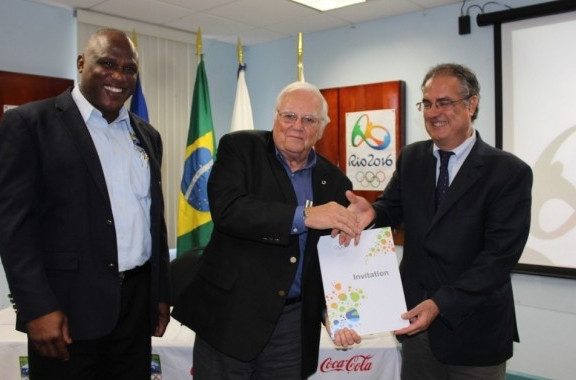 A ceremony has been held to officially welcome Barbados to Rio 2016