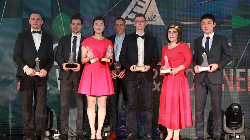 Boll and Ding take top prizes at ITTF Star Awards