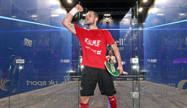 Gaultier caps new baby joy with quick-fire quarter-final victory at PSA World Championships