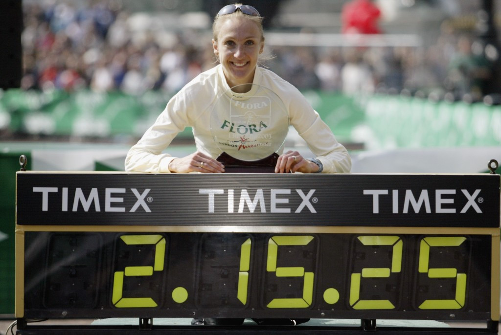 Paula Radcliffe set her world record of 2:15:25 at the 2003 London Marathon, but believes that the mark could soon be under threat