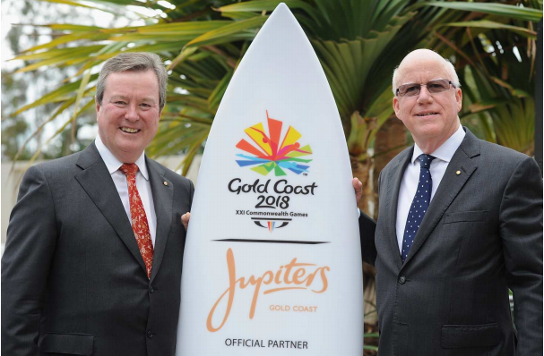 Echo Entertainment chairman John O'Neill and chairman of the Gold Coast 2018 Commonwealth Games Nigel Chamier ©Echo Entertainment
