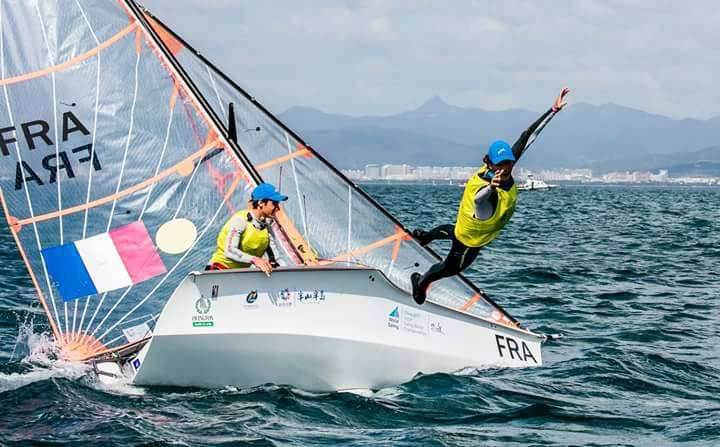 Revil and Guevel win gold in close contest on final day of 2017 Youth Sailing World Championships