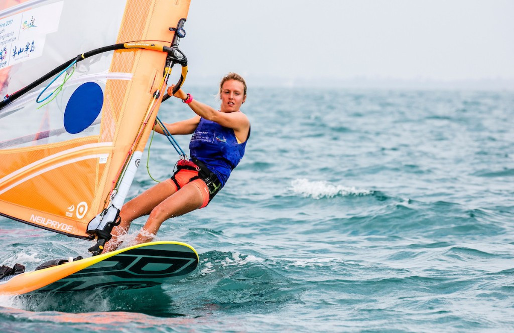 Britain's Emma Wilson won the women's RS:X title ©youthworlds