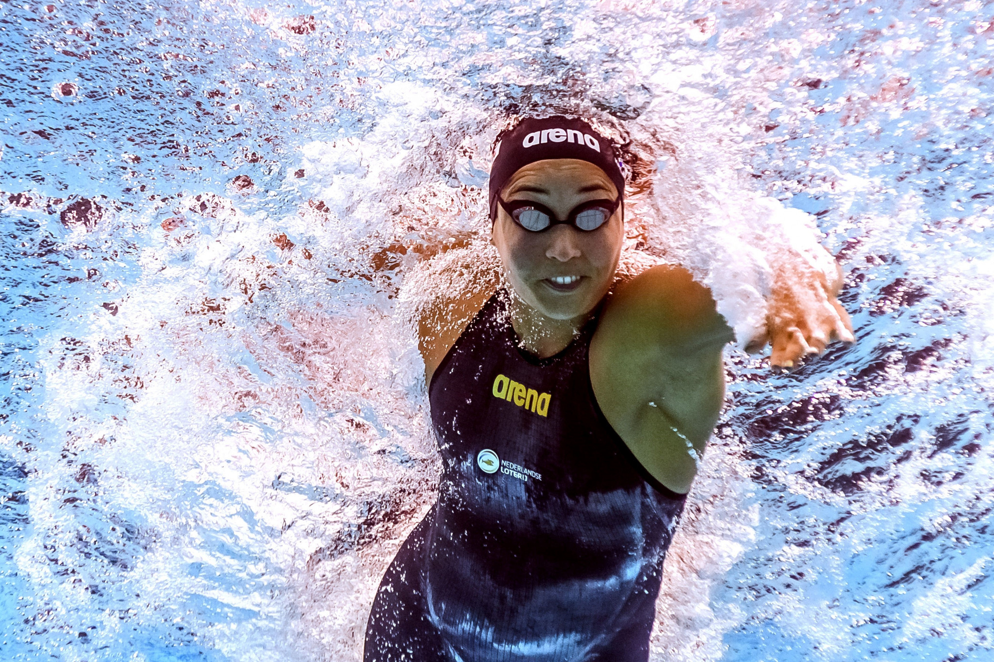 Ranomi Kromowidjojo was part of The Netherlands' world record-breaking quartet in the women's 4x50 metres freestyle relay ©Getty Images