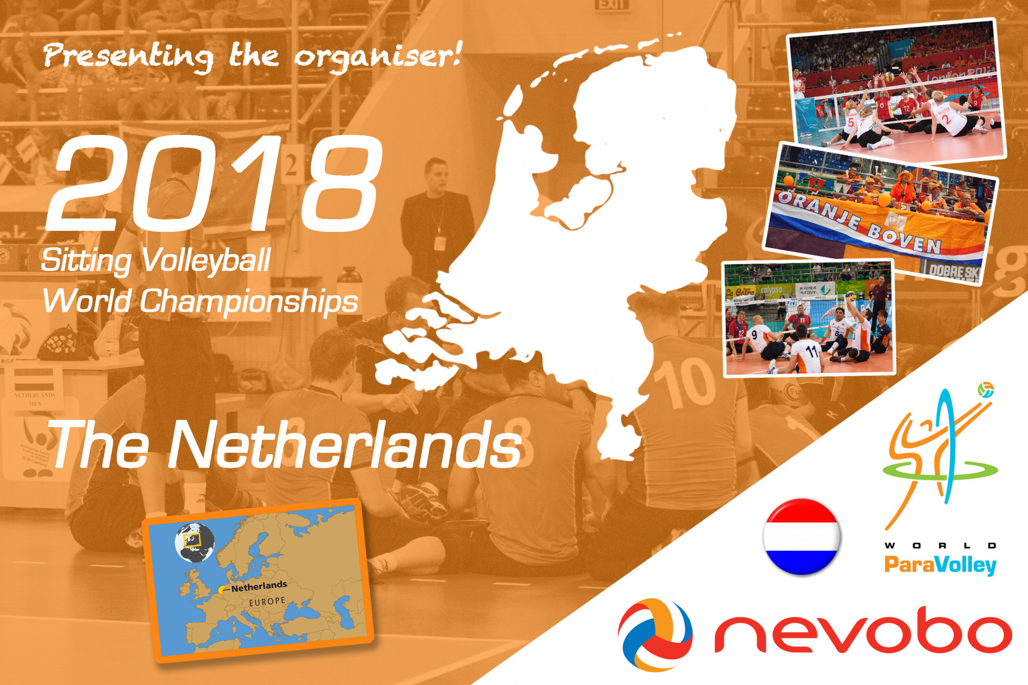 The Netherlands will host the 2018 WPV World Championships in July ©WPV