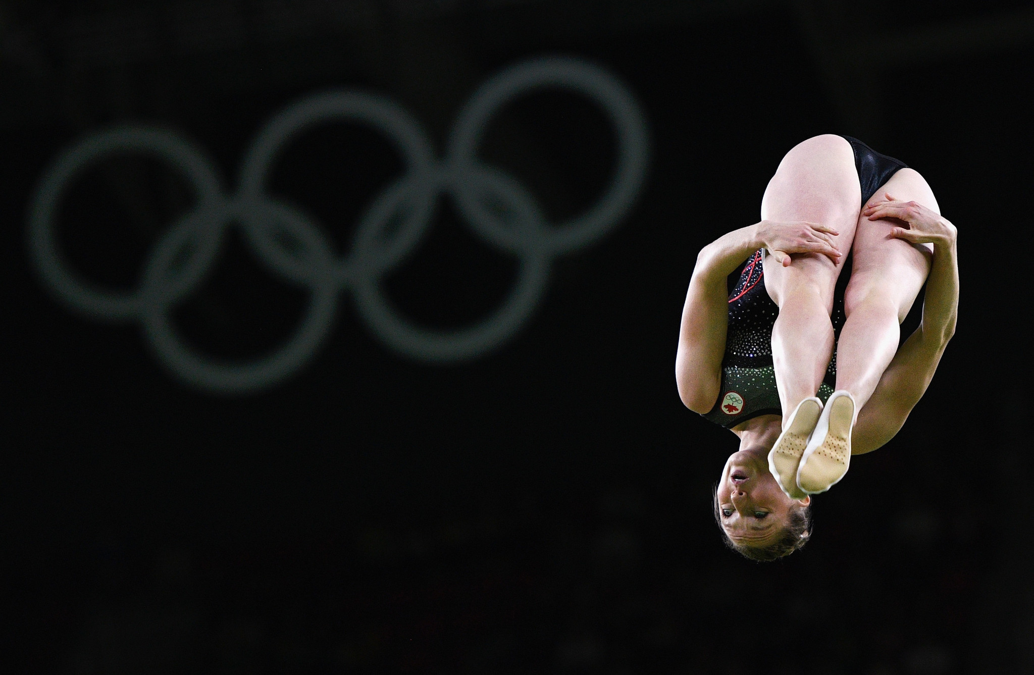Canada's Rosie MacLennan won the women's trampoline gold medal at the Rio 2016 Olympic Games ©Getty Images