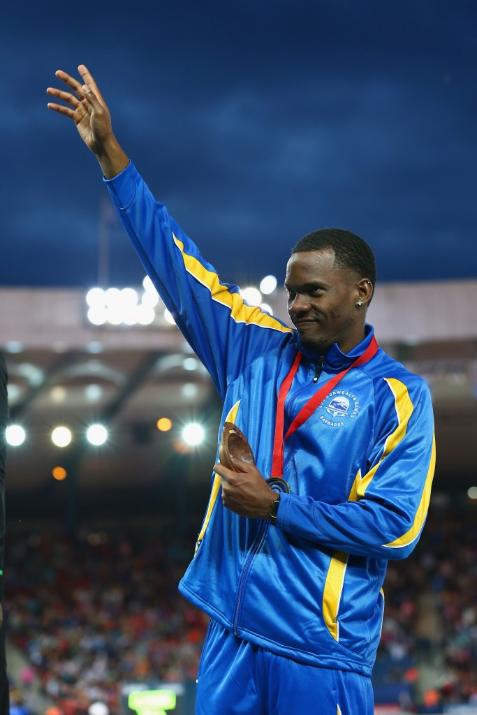 Hurdler Shane Brathwaite is one Barbados star who could lead the team at Rio 2016 ©Getty Images