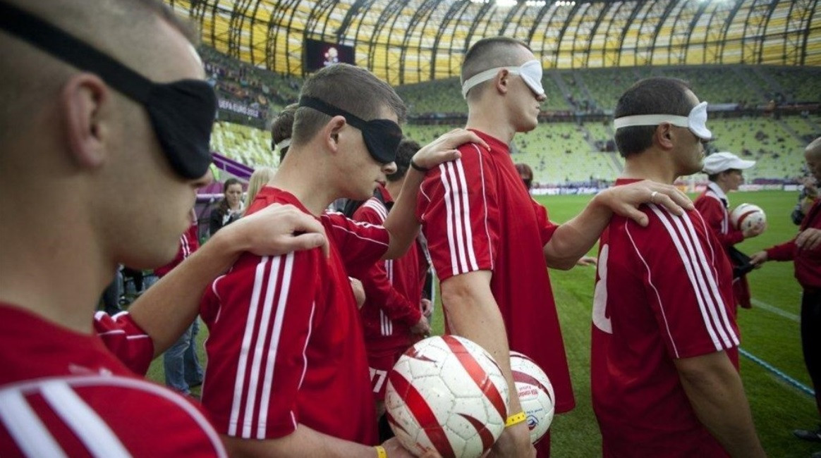 UEFA have renewed their commitment to blind football through their partnership with IBSA ©UEFA