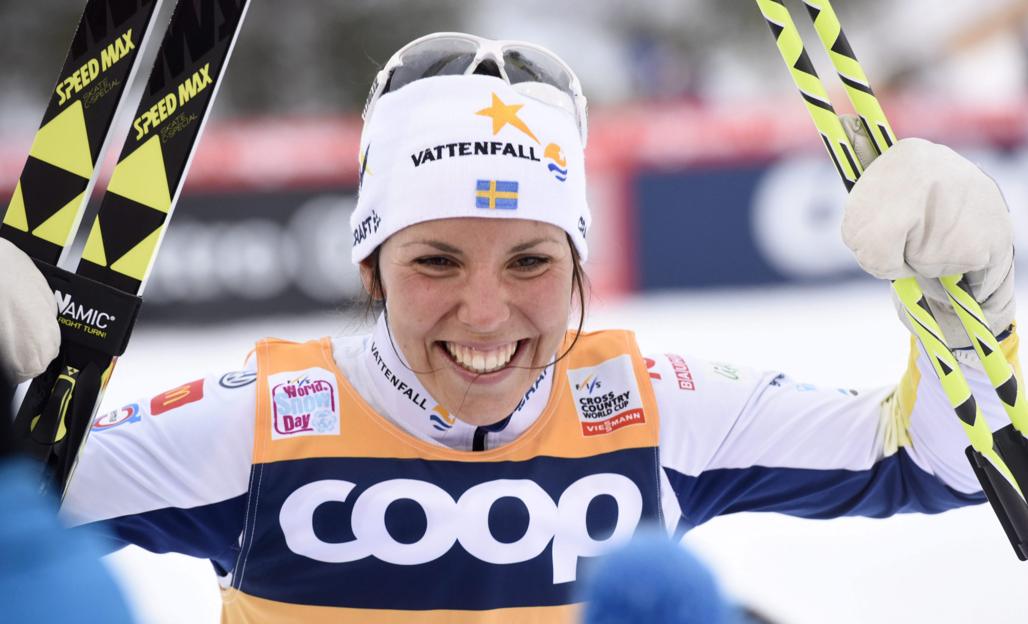 Sweden's Charlotte Kalla won the women's FIS Cross-Country World Cup event in Toblach ©Getty Images