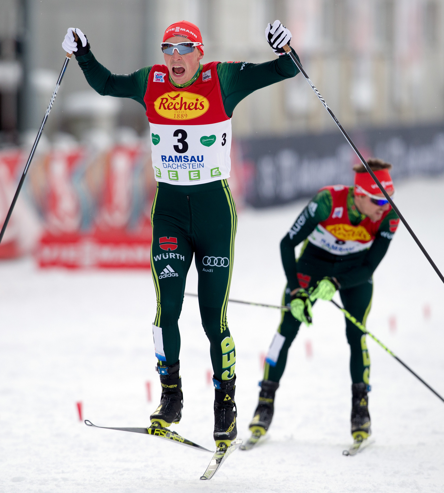 Frenzel returns to winning ways at Nordic Combined World Cup in Ramsau