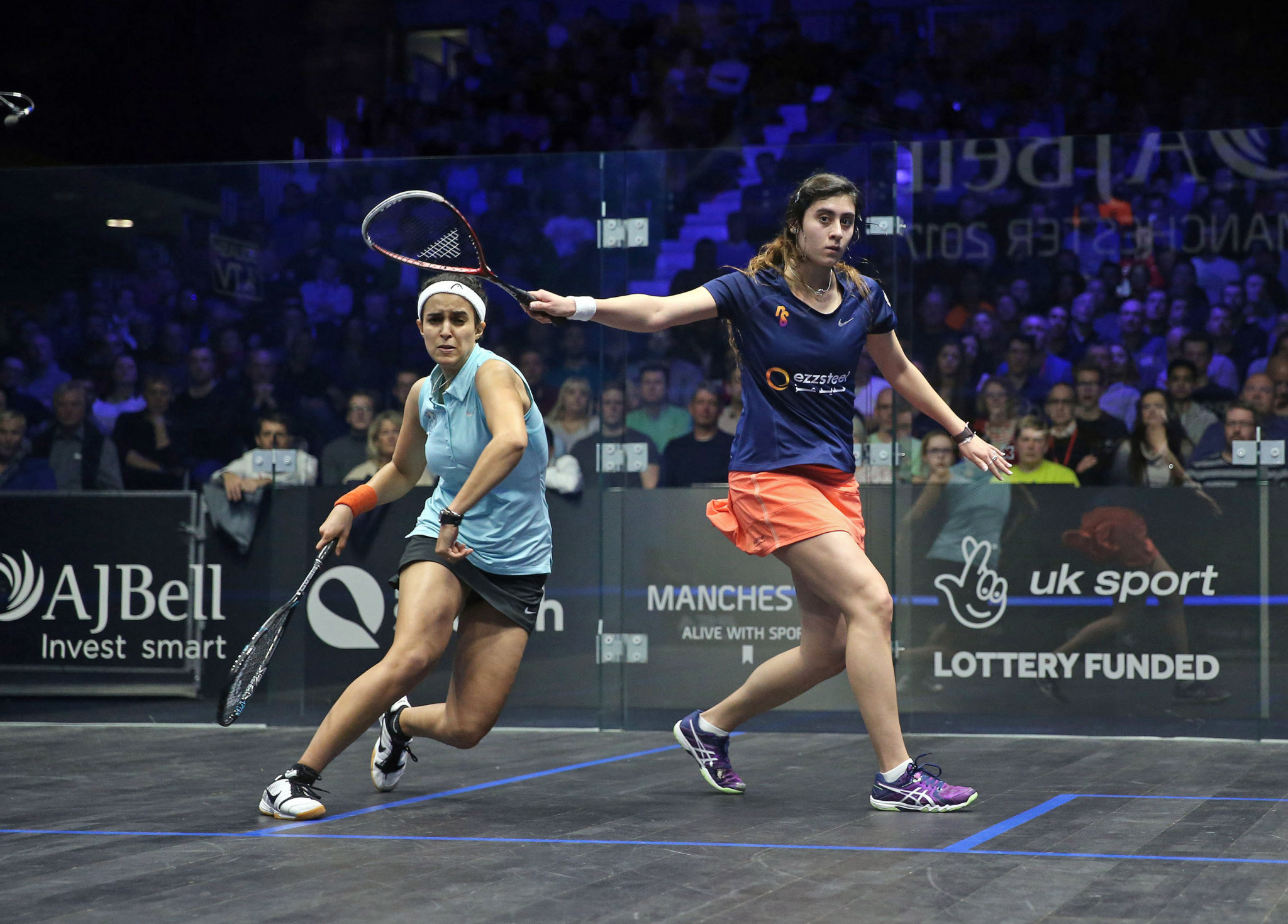 Nour El Sherbini proved too strong for compatriot Nour El Tayeb in the women's semi-finals.