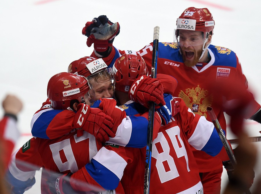 Russia's men's ice hockey team recently won the Channel One Cup in Moscow ©RIHF