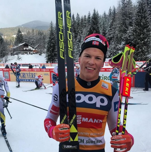 Klæbo sets record with FIS Cross-Country World Cup win in Toblach