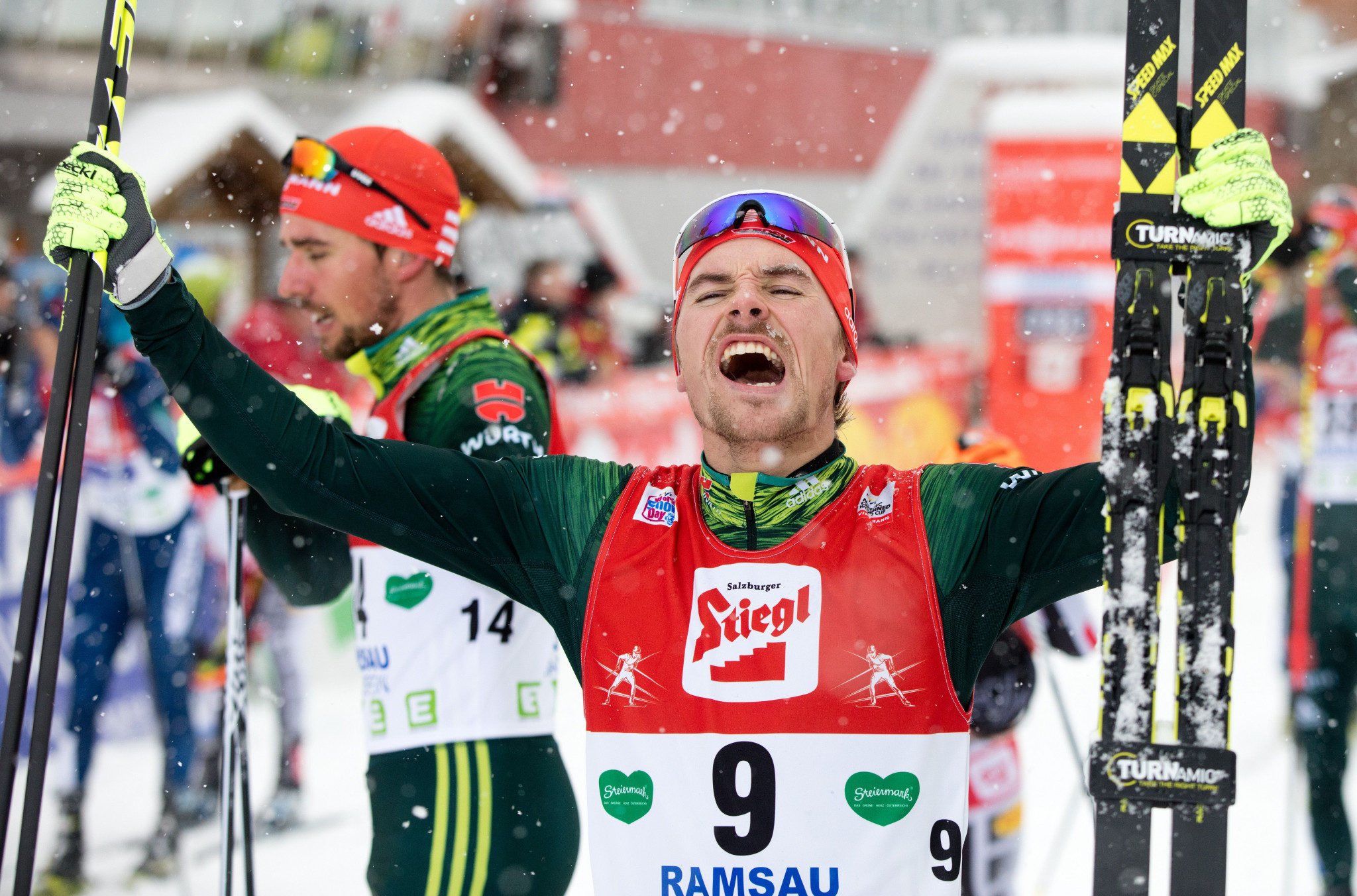 Rießle clinches Nordic Combined World Cup win as Schmid takes overall lead
