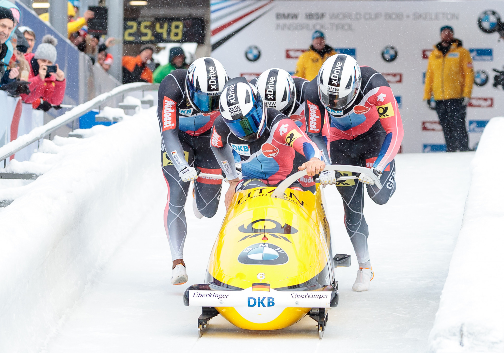 Lochner wins four-man title at IBSF World Cup and defends European crown