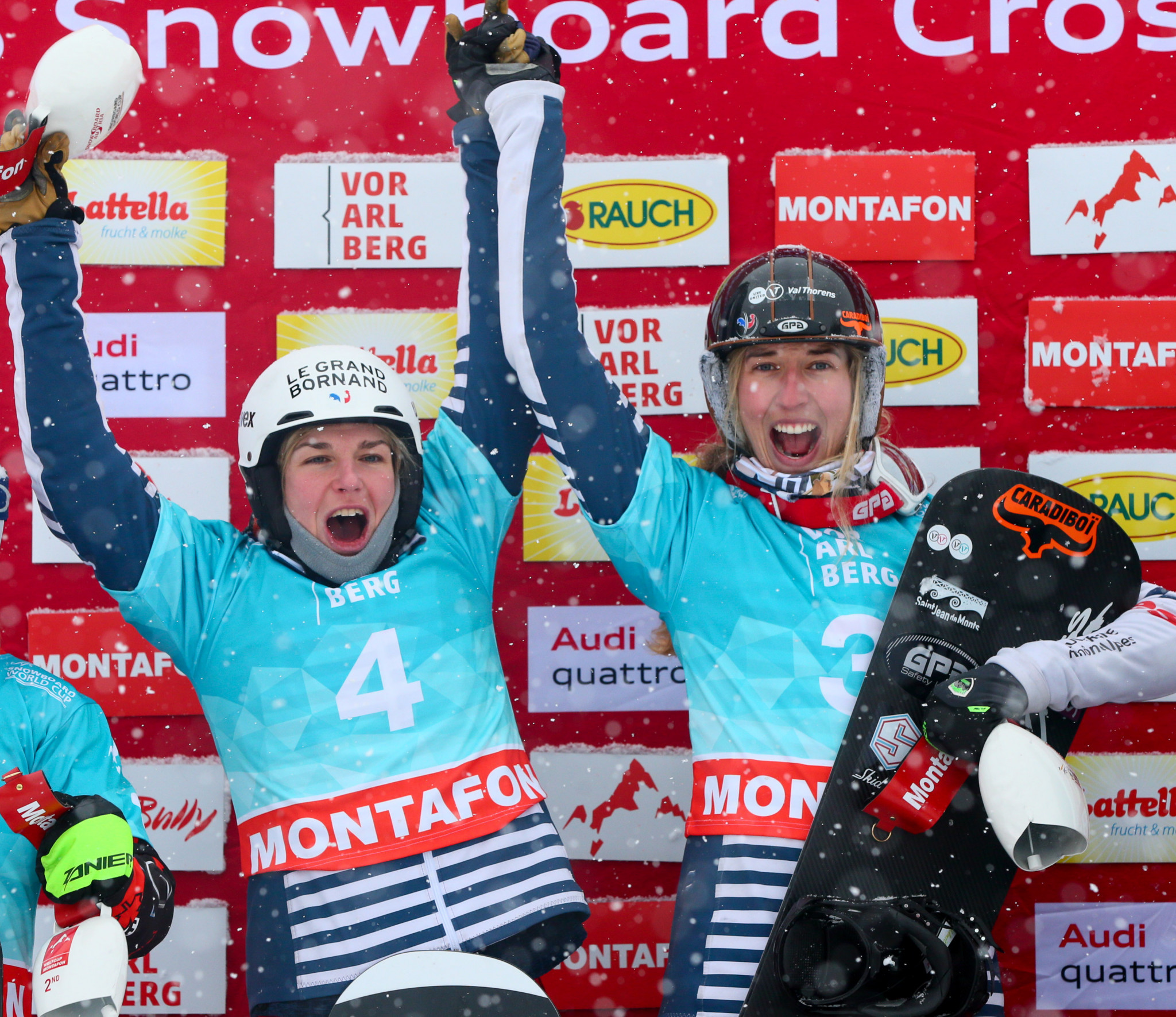 French world champions win team event at Snowboard Cross World Cup