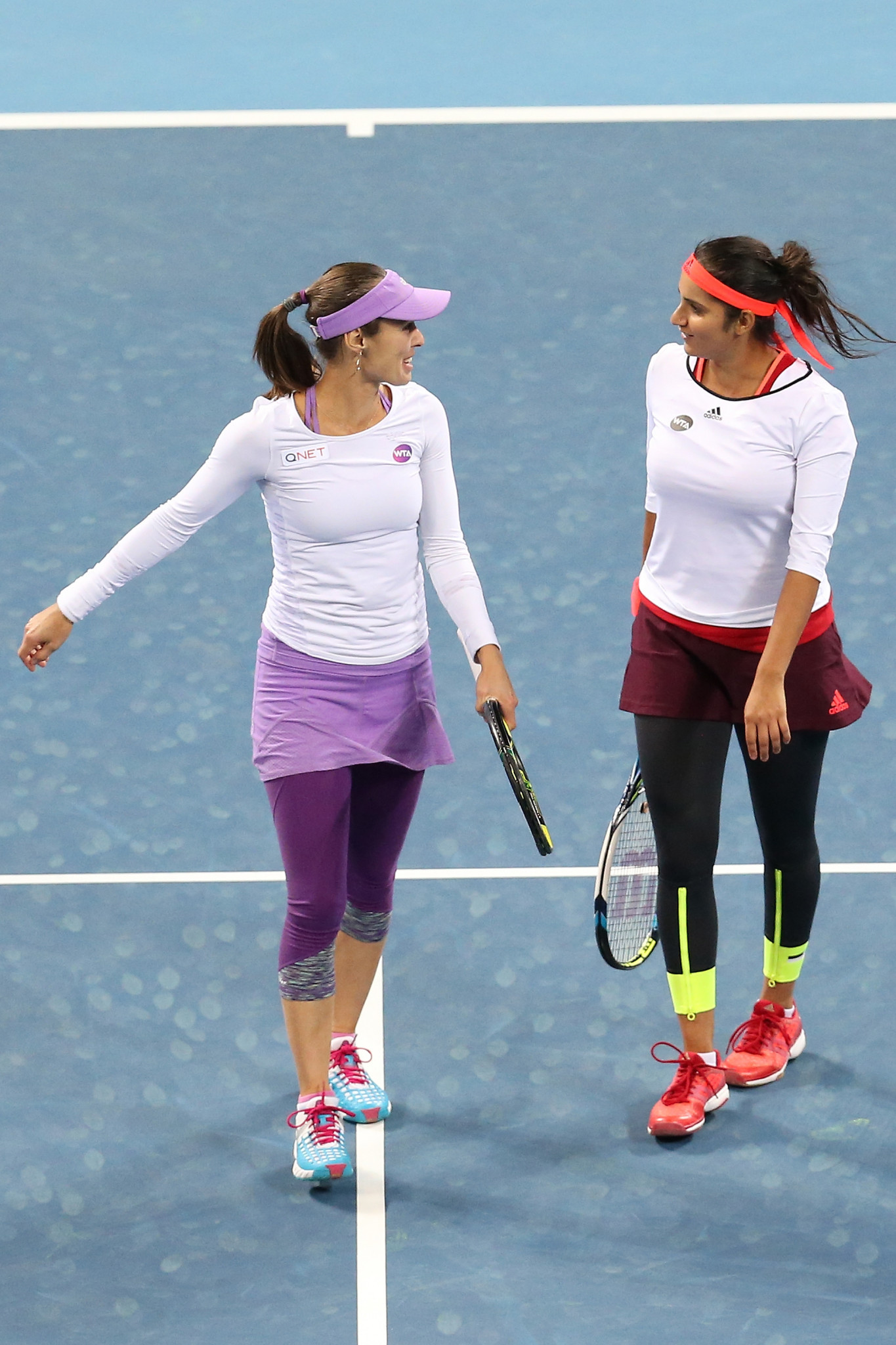Chan Yun-Jan and Martina Hingis won the women's doubles award ©Getty Images