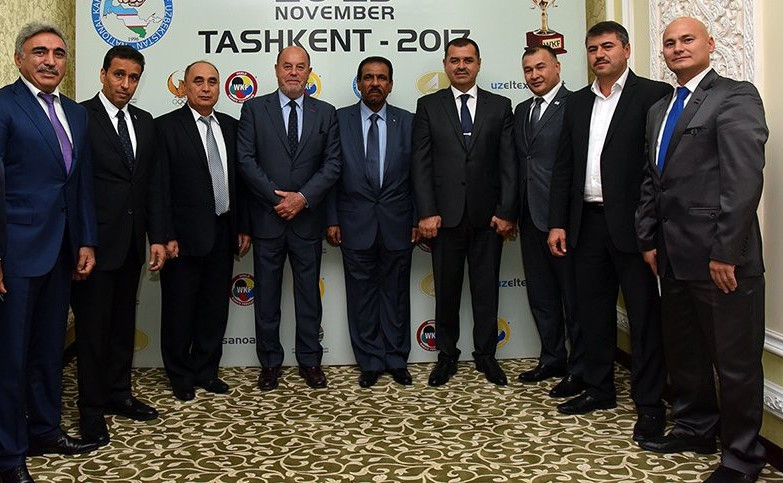World Karate Federation President Antonio Espinós visited Uzbekistan to discuss the future of the sport in the central-Asian nation ©WKF
