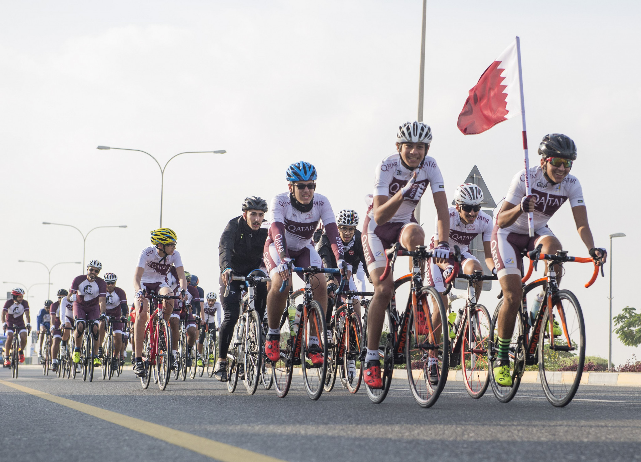 Qatar Olympic Committee organise flag relay to celebrate country's National Day