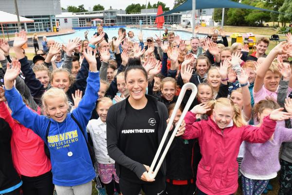 Paralympic swimming star takes Gold Coast 2018 Queen's Baton to Christchurch