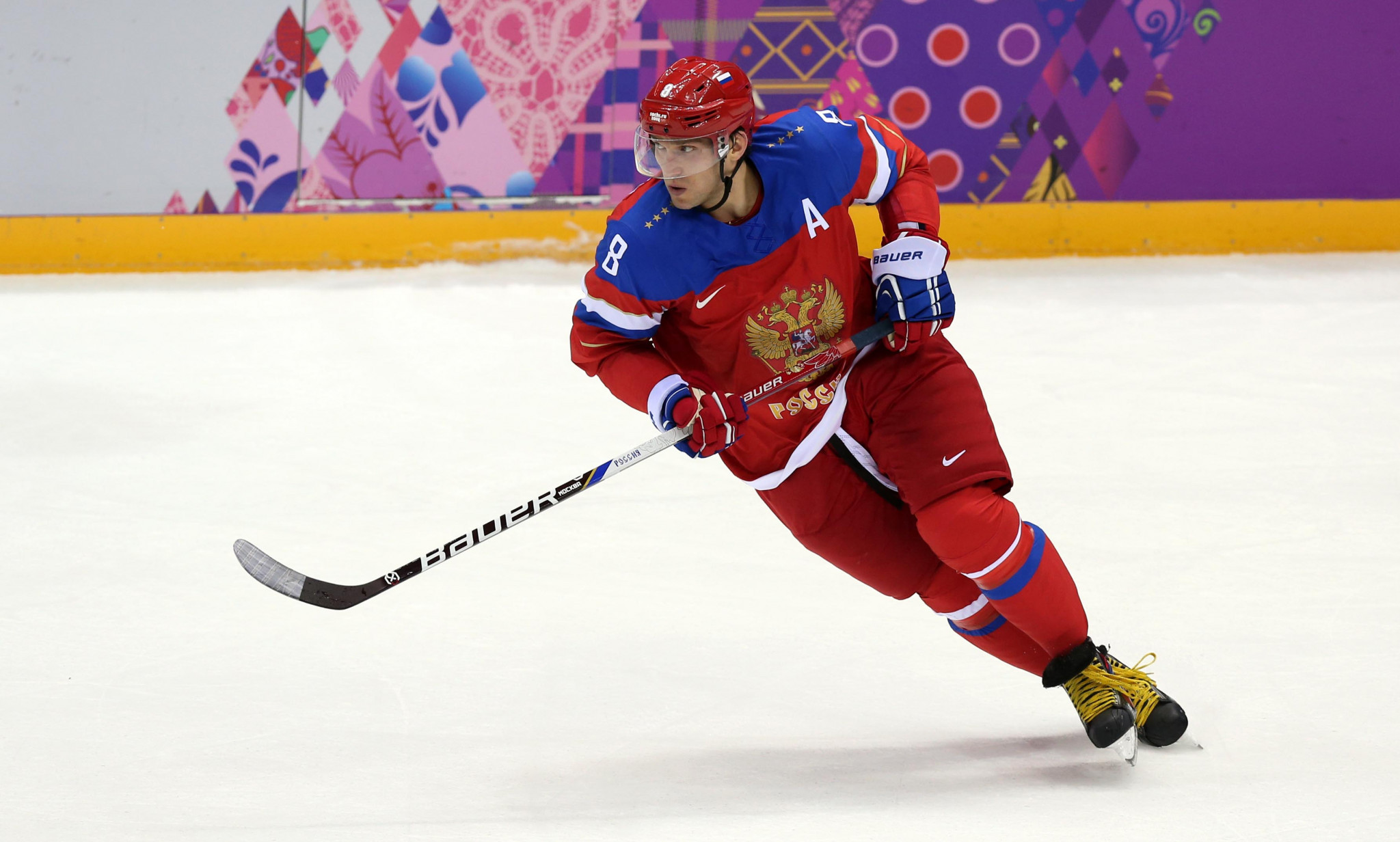 Russian symbols, like the eagle on the ice hockey's team jerseys at Sochi 2014, will not be allowed on any kit worn by athletes representing