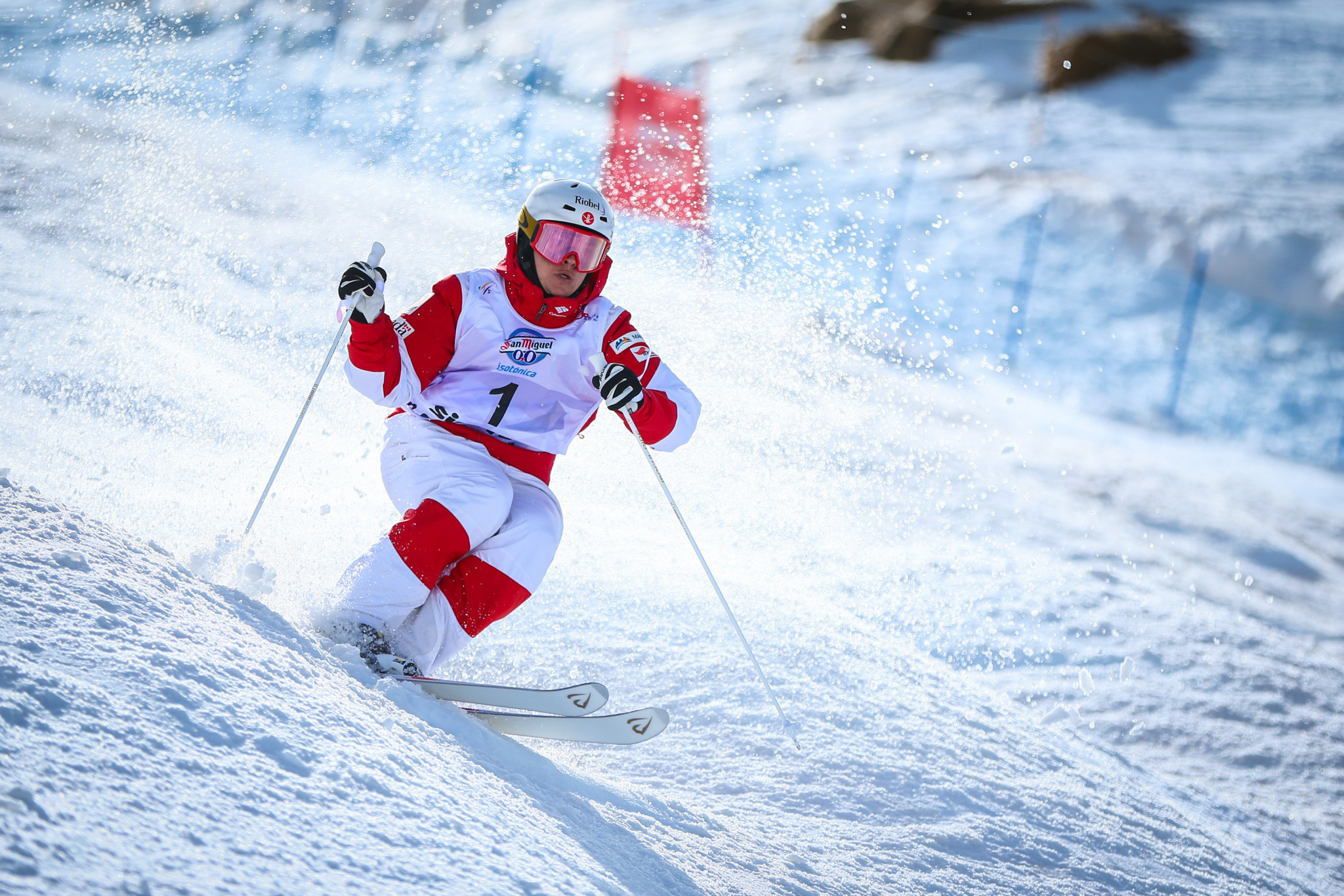 Canada's Mikael Kingsbury came out on top at the Moguls World Cup in Ruka earlier this month ©Getty Images