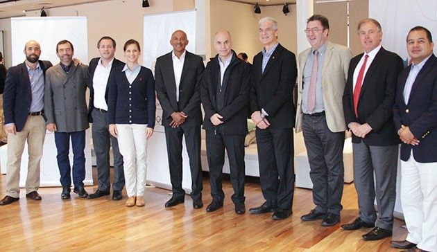 IOC Coordination Commission members pictured during their visit to Buenos Aires, where they were led by Frankie Fredericks (fifth left) ©Buenos Aires 2018