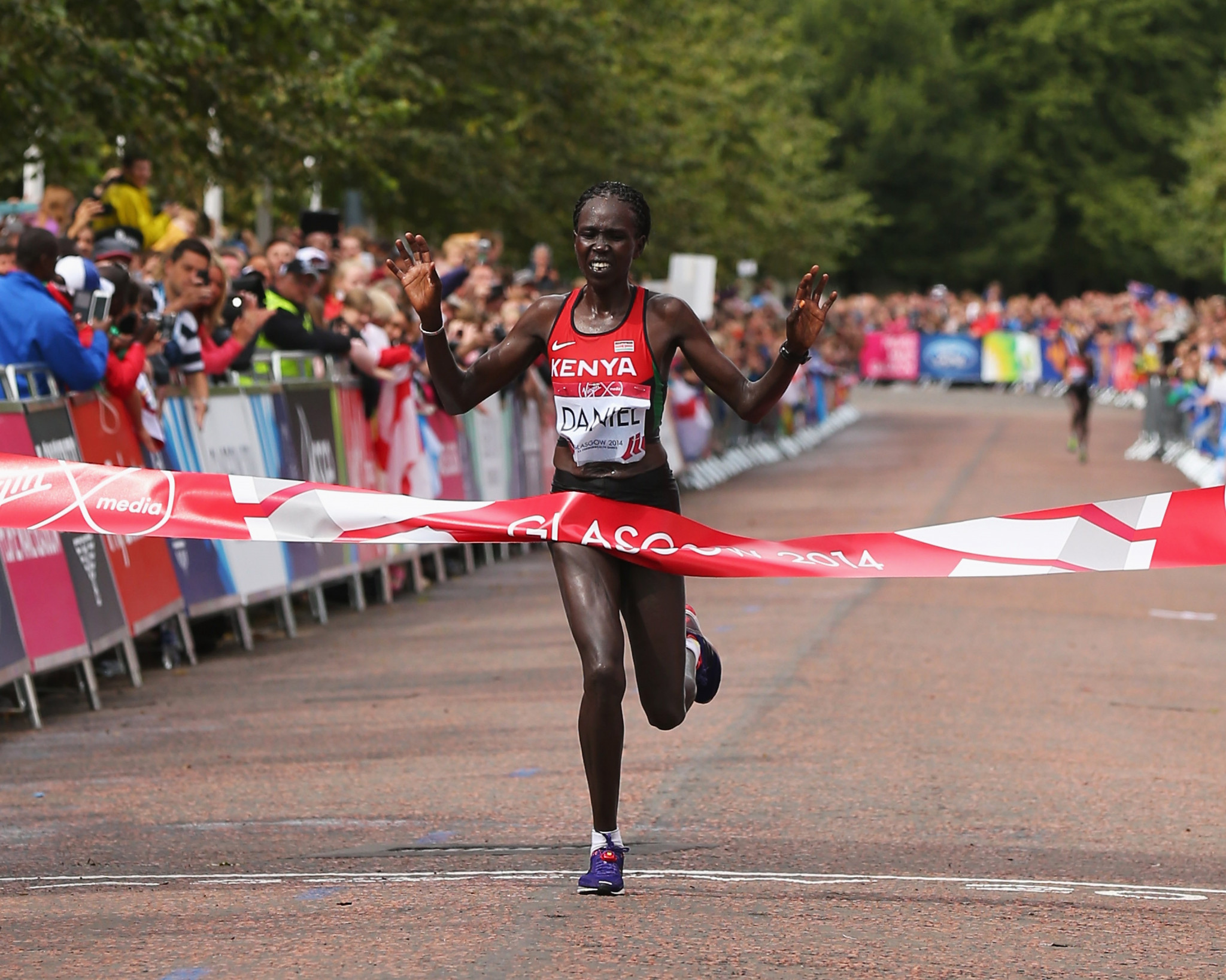 Flomena Cheyech Daniel was among Kenya's gold medallists at the Glasgow 2014 Commonwealth Games, winning the women's marathon ©Getty Images