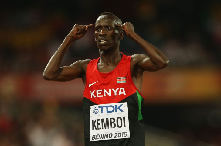 All in the mind - Kenya's Ezekiel Kemboi makes his feelings clear after winning a fourth world 3000m steeplechase title ©Getty Images