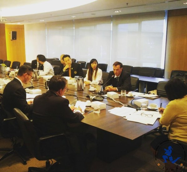 IFMA secretary general Stephan Fox was among those present at the meeting ©IFMA