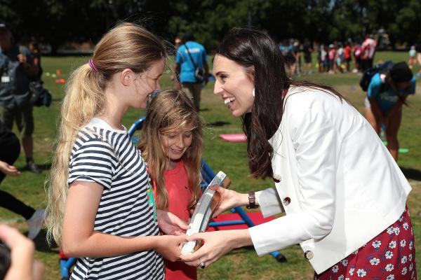 New Zealand Prime Minister participates in Gold Coast 2018 Queen's Baton Relay sports day