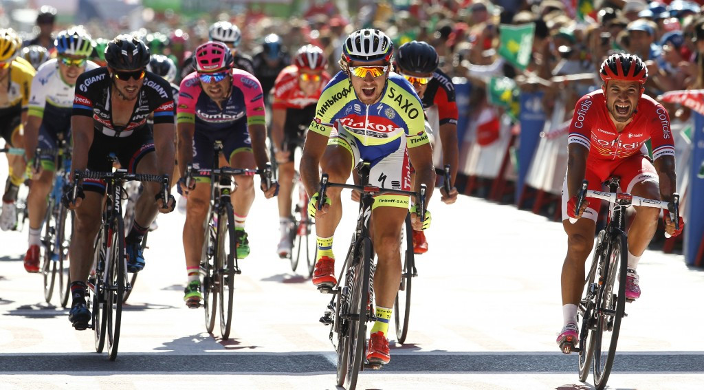Sagan breaks winless streak with stage three victory at Vuelta a España