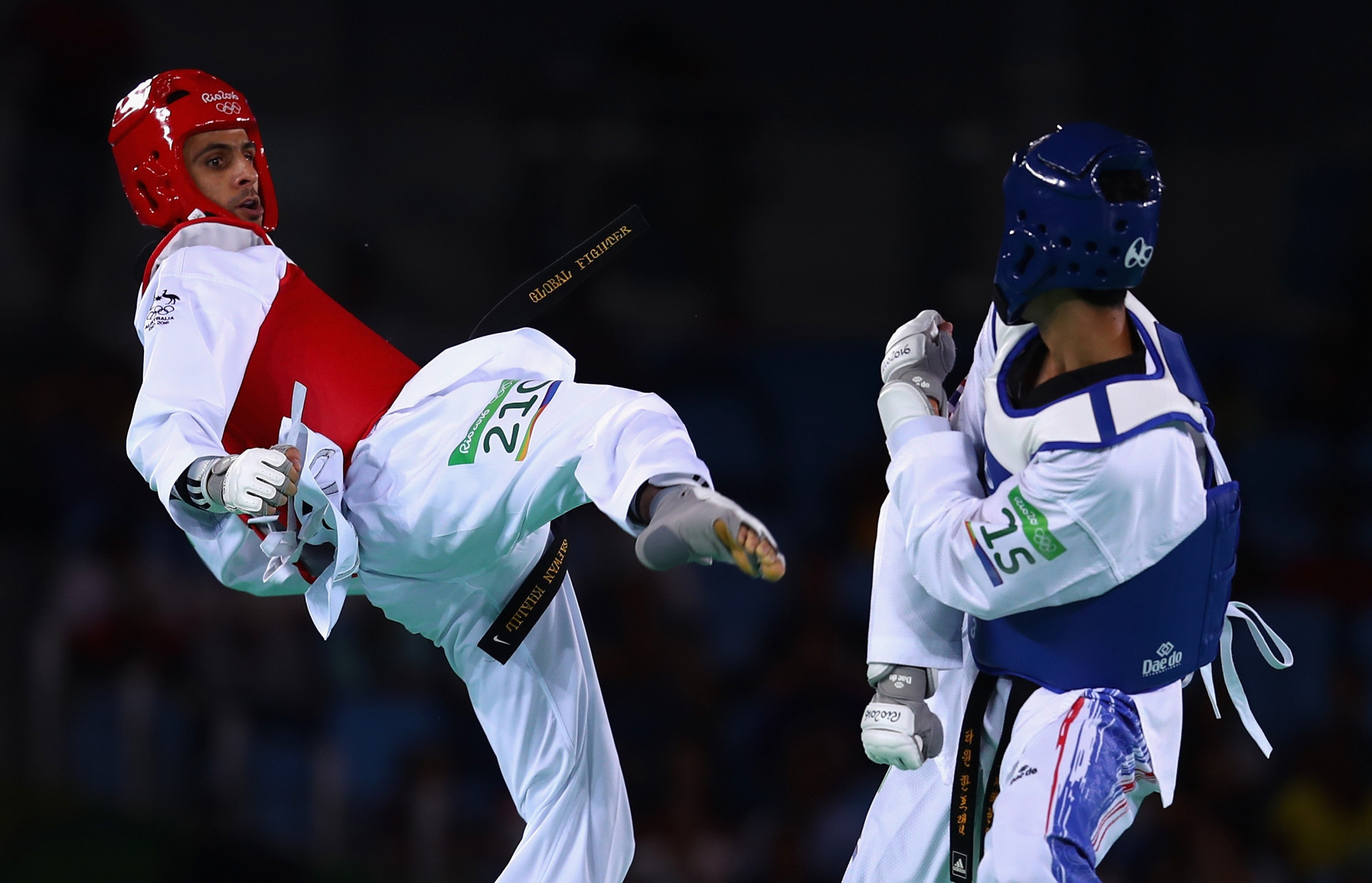 Safwan Khalil was one of four athletes that represented Australia in taekwondo at the Rio 2016 Olympic Games ©Getty Images