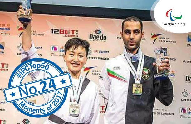 Para-taekwondo world champion recognised by IPC in best moments of 2017