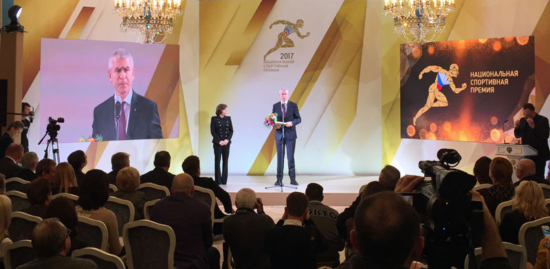 FISU President Matytsin receives prestigious award at Russian National Sports Awards in Moscow