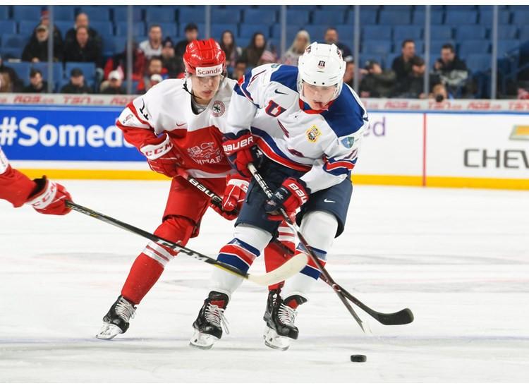 United States thrashed Denmark to begin their tournament ©IIHF