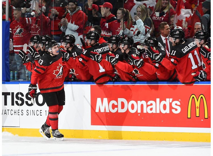 Canada defeated Finland in the other Group A game ©IIHF