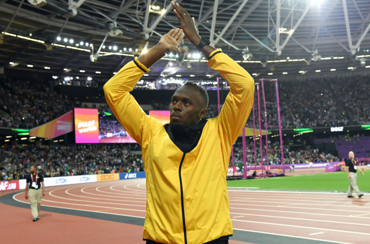 A championship too far? Usain Bolt bids farewell to his track career at the London Olympic stadium after failing to retain his world 100m title ©Getty Images