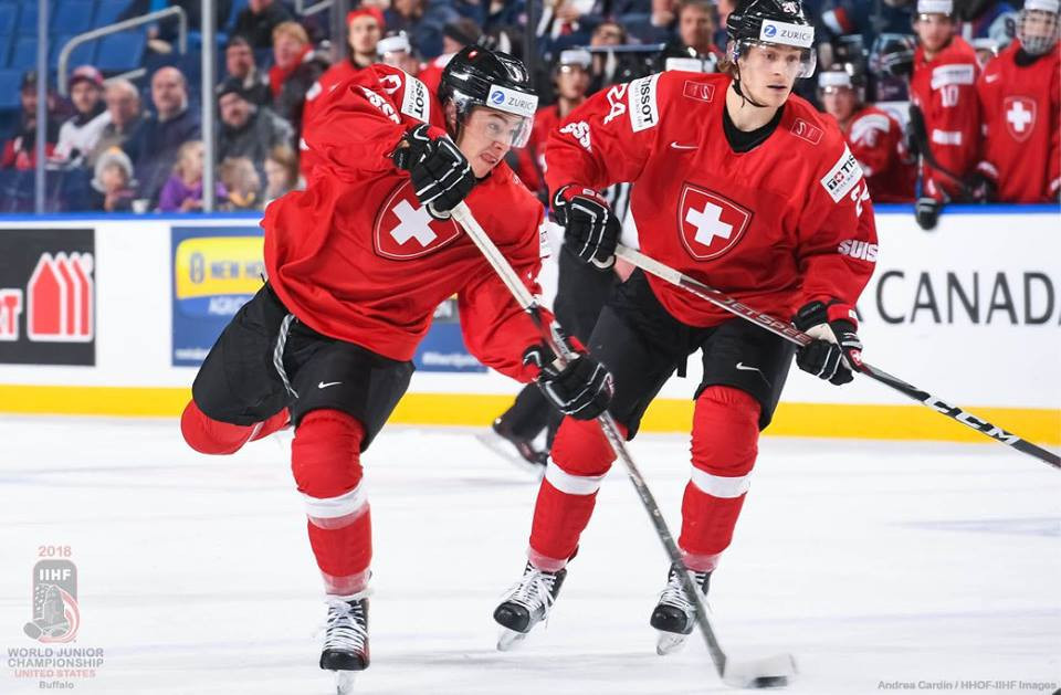 Switzerland edged a tight battle with Belarus in Buffalo ©IIHF
