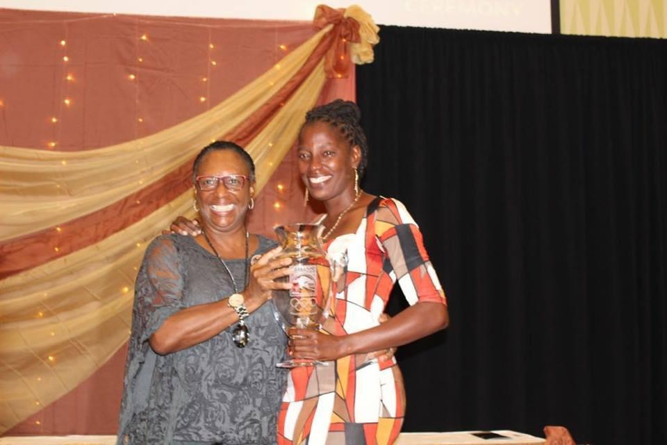 Latonia Blackman won the senior female athlete of the year award ©BOA/Facebook