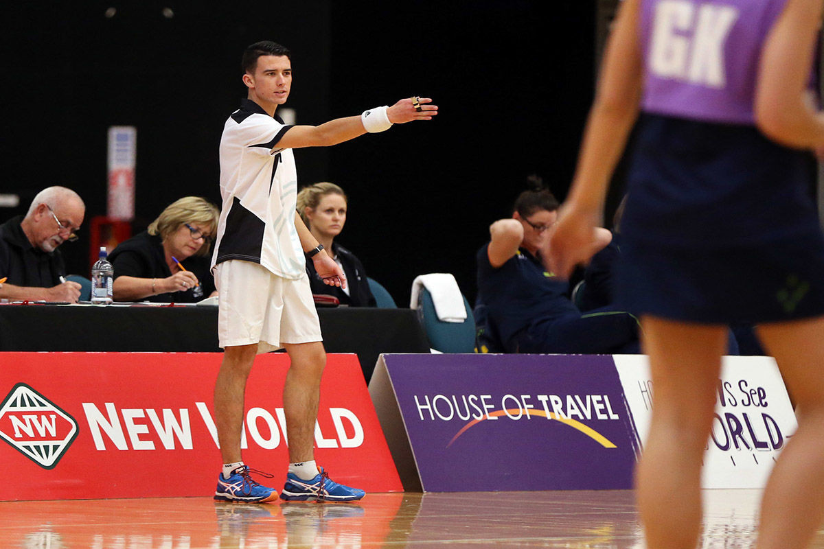 Cory Nicholls has been named the 2017 Umpire of the Year ©NetballNZ
