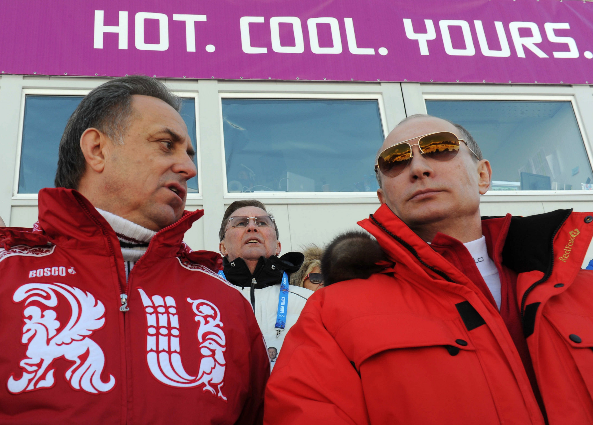 Vitaly Mutko, left, pictured attending the Sochi 2014 Olympic Games alongside Russian President Vladimir Putin ©Getty Images