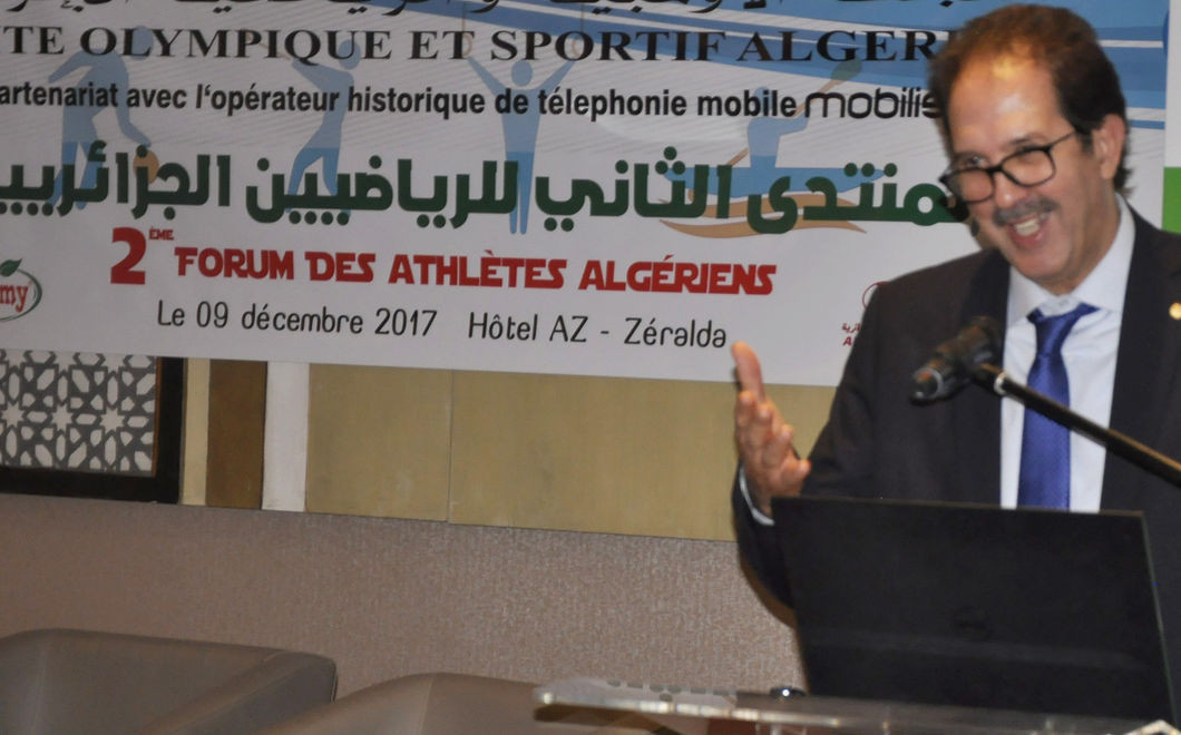 Olympic 1500m gold medallist honoured by Algerian National Olympic Committee at Athletes' Forum